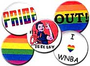 Lesbian and Bi Pride Buttons